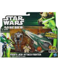 Yoda's Jedi Attack Fighter with Yoda & Battle Droid (Non-Mint)