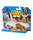 Hot Wheels Star Wars Character Car 2-Pack R2-D2 & C-3PO