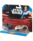 Hot Wheels Character Car 2-Pack Darth Vader and Princess Leia
