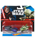 Hot Wheels Character Car 2-Pack Emperor Palpatine vs Yoda
