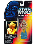 Yoda with backpack & Gimmer Stick (Orange Card with Hologram)