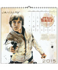 Star Wars Saga 2015 WaterColor Wall Calendar 16-Month