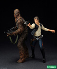 Han Solo and Chewbacca ArtFX Statue