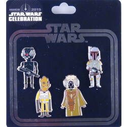 Empire Strikes Back Pin Set of 4 - Star Wars Celebration Anaheim