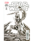 Marvel Star Wars #1 Forbidden Planet Granov B&W Boba Fett