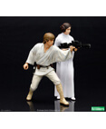 Luke Skywalker and Princess Leia ArtFX+ Statue