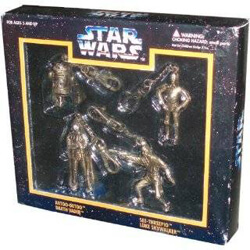 Star Wars Die Cast Metal Key Chains Box set of 4