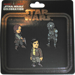 Rogue One Set of 3 Pins Star Wars Celebration Orlando 2017