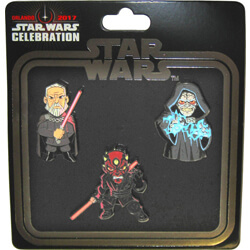 Sith 3-Pack Pin Set Star Wars Celebration Orlando 2017