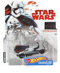 Hot Wheels Star Wars Character Car - Captain Phasma (non-mint)