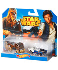 Hot Wheels Star Wars Character Car 2-Pack Han Solo and Chewbacca