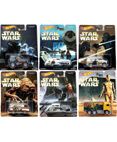 Hot Wheels 2016 Star Wars Pop Culture - Complete Set of 6