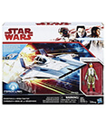 Resistance A-Wing Fighter with Resistance Pilot Tallie Figure