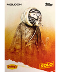 Moloch A Star Wars Story Card Denny's Topps