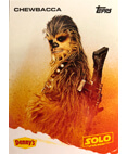 Chewbacca A Star Wars Story Card Denny's Topps