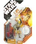 C-3PO with Battle Droid Head - Legends (non-mint)