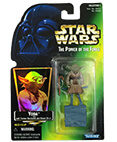 Yoda with backpack & Gimmer Stick (Green Hologram) (non-mint)