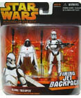 Clone Trooper firing Jet backpack & spring open wings