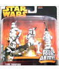 Clone Troopers - includes 3 different troopers - White