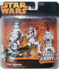 Clone Troopers - includes 3 different troopers - Blue