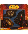 Christmas Glass Ornament Gift Set Darth Vader,C-3PO, Yoda Tin