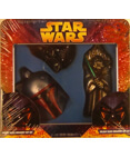 Christmas Glass Ornament Set Darth Vader,Boba Fett, Yoda Tin