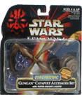 Gungan Catapult Accessory Set with lights Electronic (non-mint)