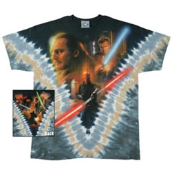 Lightsaber Battle Tie Dye T-Shirt - XL
