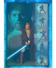 Attack of the Clones Prismatic Foil Card #6 of 8-Obi-Wan Kenobi