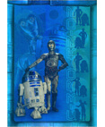 Attack of the Clones Prismatic Foil Card #8 of 8 - C-3PO/R2-D2