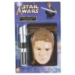 Anakin Skywalker Child's Costume shirt, Lightsaber hilt and Mask