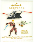 Hallmark: Asajj Ventress, Anakin and Yoda Keepsake Ornaments