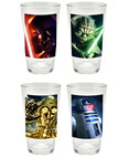 4-Piece Star Wars Glass Set, 16-Ounce, Multicolored