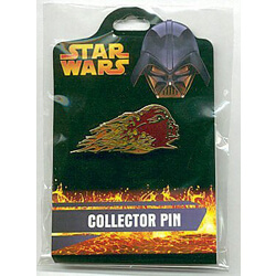 Flaming Darth Vader Pin from the Revenge of the Sith Collection