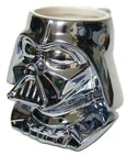 Darth Vader Metalized Figural Ceramic Mug Commemorative 20 years