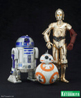 R2-D2 & C-3PO with BB-8 1/10 Scale Pre-painted model kit ArtFX