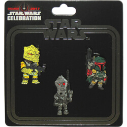 Bounty Hunters set of 3 pins Star Wars Celebration Orlando 2017