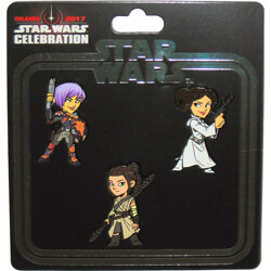 Woman of Star Wars 3-pack pin Star Wars Celebration Orlando 2017