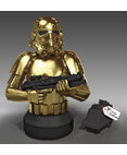 Stormtrooper Gold Commemorative Mini Bust 2014 PG Exclusive