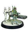 Star Wars Boba Fett with Han in Carbonite Statue
