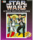 Star Wars Acrylic Paint by Number Luke Skywalker and Han Solo