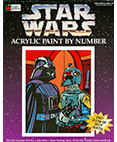 Star Wars Acrylic Paint by Number Darth Vader and Boba Fett