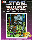 Star Wars Acrylic Paint by Number AT-ST with speederbike