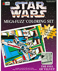 Star Wars Mega-Fuzz Coloring Set X-Wing and TIE Fighter