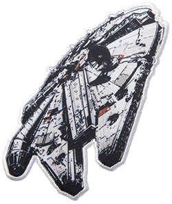 Star Wars Millennium Falcon Applique Clothing Iron On Patch
