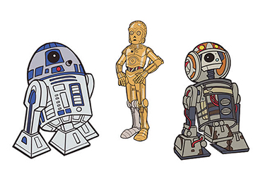 Droids 3-Pack Pin Star Wars Celebration Chicago Exclusive