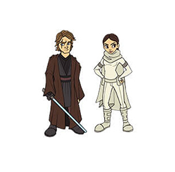 Anakin & Padme 2-Pack Pin Star Wars Celebration Chicago Excl.