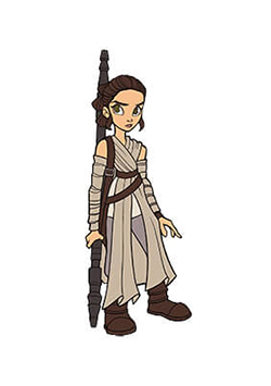 Rey Pin Star Wars Celebration Chicago Exclusive