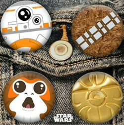Hallmark Star Wars Day May 4th exclusive button set of 4