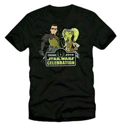 Star Wars Celebration Chicago Kanna and Hera T-Shirt (Large)